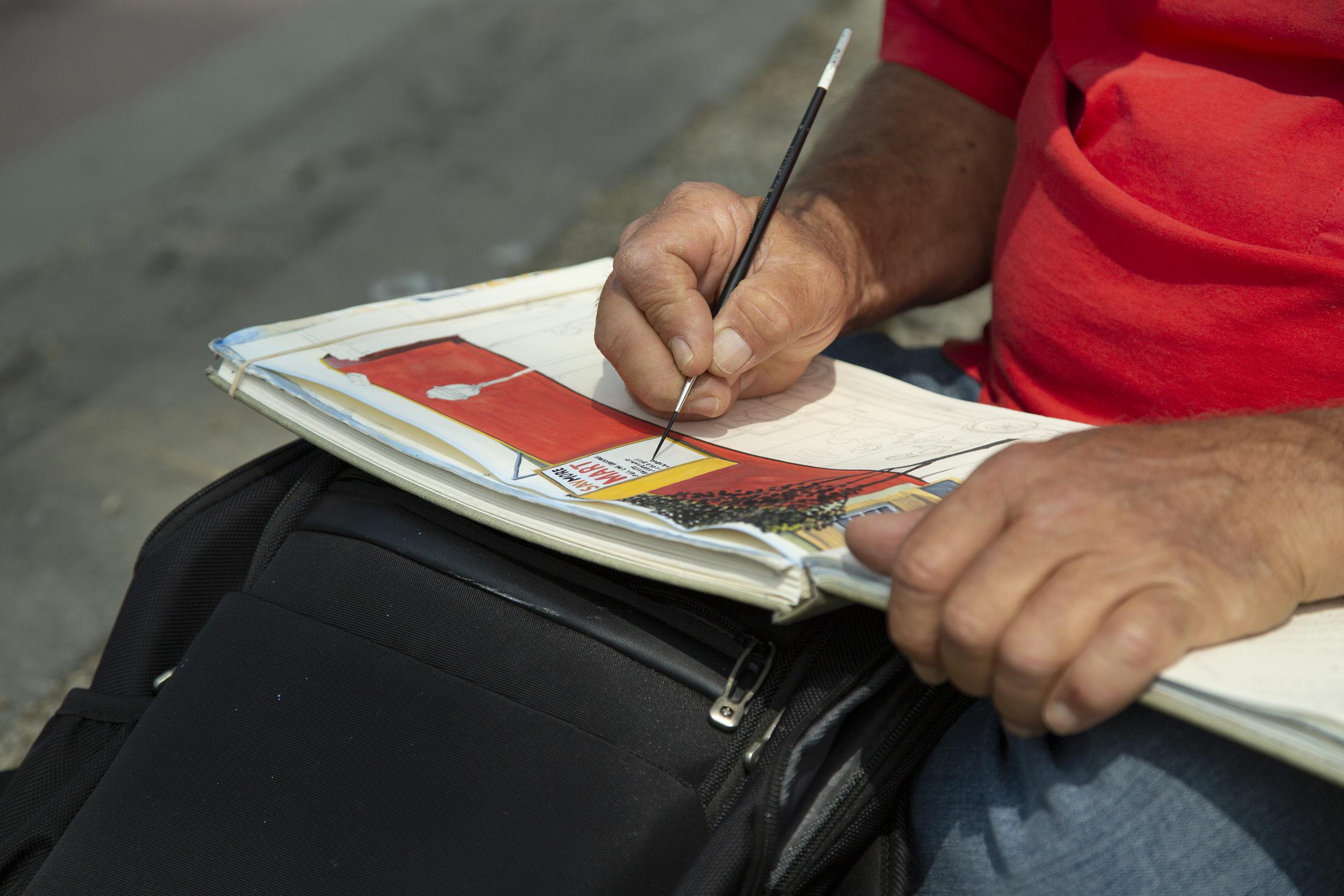 Rico Salinas sketch up close